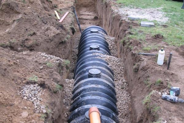 System rozsączania wody deszczowej